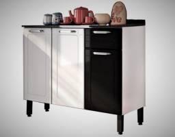 Título do anúncio: Balcão Cozinha Aço 3 Portas 1 Gaveta  Bertolini  - Frete Grátis - Receba Hoje!