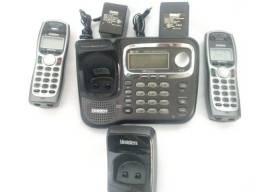 Telefone Sem Fio Uniden Tru9466 2 linhas com 1 Base + 1 Ramal Importado