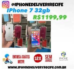 Título do anúncio: IPhone 7 32gb Prata (12 x Sem juros ) Entrega Grátis Recife