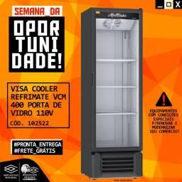 Título do anúncio: Visa Cooler expositor refrigerado Refrimate Vcm 400 Porta De Vidro Novo Frete Grátis