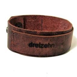 Bracelete Romano em Couro Legítimo Dreizehn