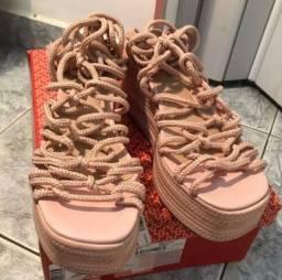 Sandália Amarração bege Sonho dos pés