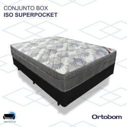 Título do anúncio: CAMA BOX CASAL ORTOBOM/ ISO SUPERPOCKTET