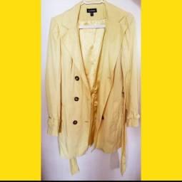 Sobretudo/casaco amarelo *NUNCA USADO*