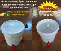 Reservatório de água para aves em geral codorna, galinhas e outros