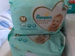 Título do anúncio: Fralda Pampers M Premium Care