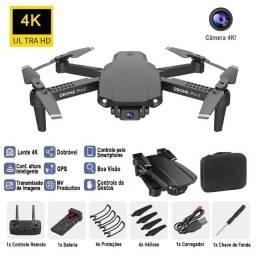 Drone E59 Original com WIFI e Câmera 4K cor Preto com Bolsa Inclusa 100% Novo