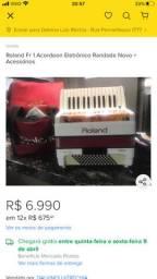 Roland FR-1 acordeon digital novo raridade