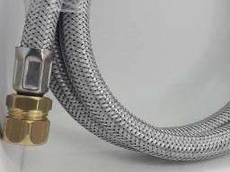 Mangueiras  revestimento  metálico , abraçadeira ou  rosca p/fogão a gás