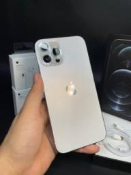 Título do anúncio: iPhone 12 Pro Max 512GB branco com nota fiscal parcelo até 12x s/j