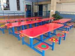 Mesa para refeitório ou cantina escolar ( 8 assentos fixos )