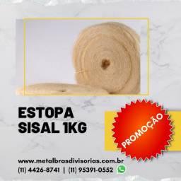 Título do anúncio: Promoção!!! Estopa Sisal 1 Kg + Plaquinha 60x60 de Minas