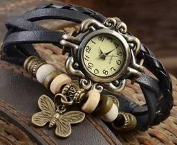 Título do anúncio: Relógio De Pulso Feminino Multicamadas Vintage