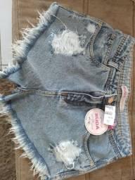 Short jeans novo lycra tamanho 38