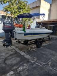 Lancha motorboat 5 metros 60 Hp 2t