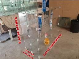 Torooo balcão expositor de vidro