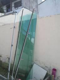 Portas de vidro  2,20 x 0,70 com 8 mm