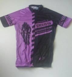 Camisa ciclista manga curta feminina
