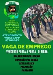 Título do anúncio: VAGA DE VENDEDOR OI PORTA A PORTA SALÁRIO FIXO