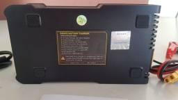 Carregador Inteligente para Baterias Litio Gel Carro Moto e reparador