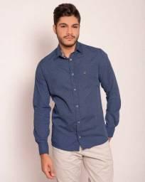 Camisa social 100% algodão Tamanho P
