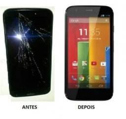 Tela Touch Display Motorola E1 E2 E4 E5 E5 Play E4 Plus