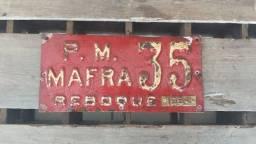 Título do anúncio: Rara! Placa De Carro Antiga Para Reboque De 1954