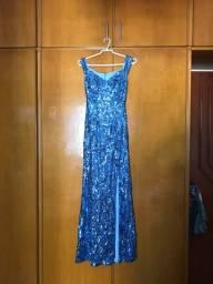 Vestido Festa Azul Claro
