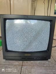 TV Mitsubishi Antiga 20'' - Funcionando