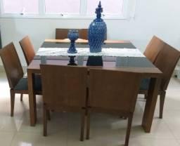 Mesa Jantar 8 Lugares + 8 Cadeiras Alto Padrão