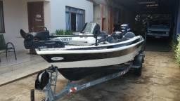 Bass boat f3 fibralar 90hp e-tec - 2012