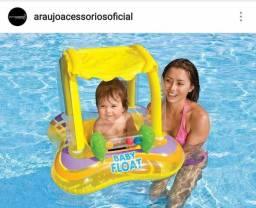 Boia Inflável Infantil Com Cobetura Baby Bote Kiddie Float
