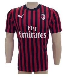 Camisa Puma Milan listrada preta oficial tam: p ao gg