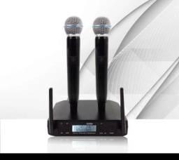 Microfone shure beta glxd 24br beta 58 a duplo sem fio enpontado profissional