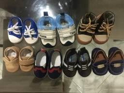 Combo roupas e calçados bebê menino