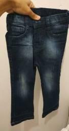 Calça jeans infantil masculino tamanho único
