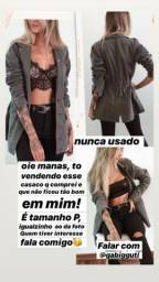Jaqueta Parka Jeans Militar