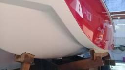Lancha 17 pés estado nova sem motor com carreta aceito carro moto jet ski