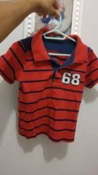 Vendo camisa infantil gola polo tamanho 2