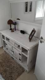 Conjunto de Rack para quarto ou sala - Rústico em pátina branco