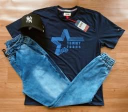 Kit calça jogger boné camiseta