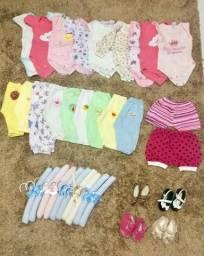 Lote bebê menina 0-3 3-6 meses