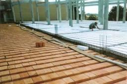 Lajes pré-moldadas, treliçadas e materiais de construção