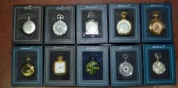 Coleção Relógios Históricos Com 10 Relógios de bolso - De Agostini