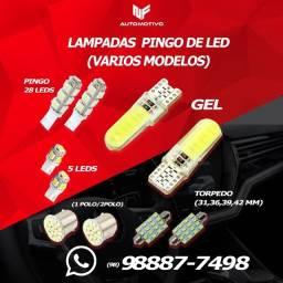 Pingos de LED T10 e torpedo- pingo dagua