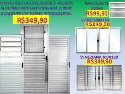 Mega promoção de portas e janelas Novas completas