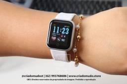 Promoção Smartwatch D20 FitPro Branco Original Notificações de Redes Sociais Modo esporte