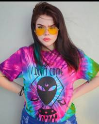 Camiseta alien tie dye