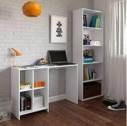 Home office Mesinha + estante para livros
