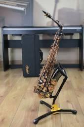 Sax Alto Condor Csa22 Black Gold - Produto Novo - Loja Física